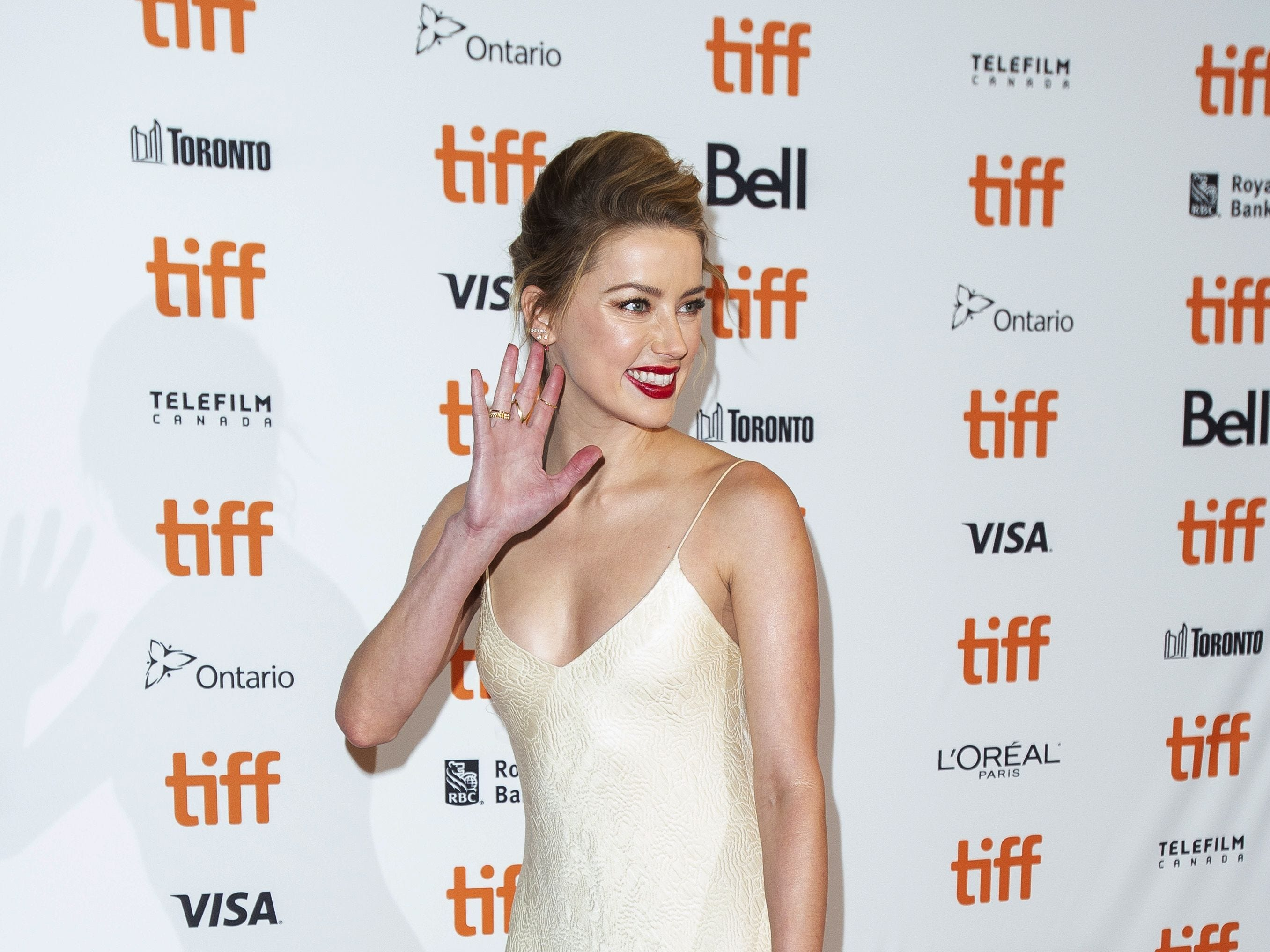 Amber Heard attends the premiere of 'Her Smell' at the Toronto International Film Festival in Toronto, Ontario, September 9, 2018. (Photo by Geoff Robins / AFP)GEOFF ROBINS/AFP/Getty Images ORG XMIT: Toronto i ORIG FILE ID: AFP_18Z3YC