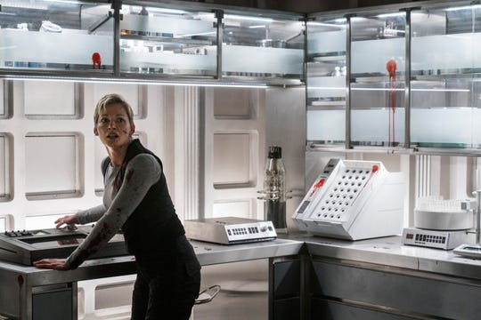 "Gretchen Mol as Agatha on ""Nightflyers."""