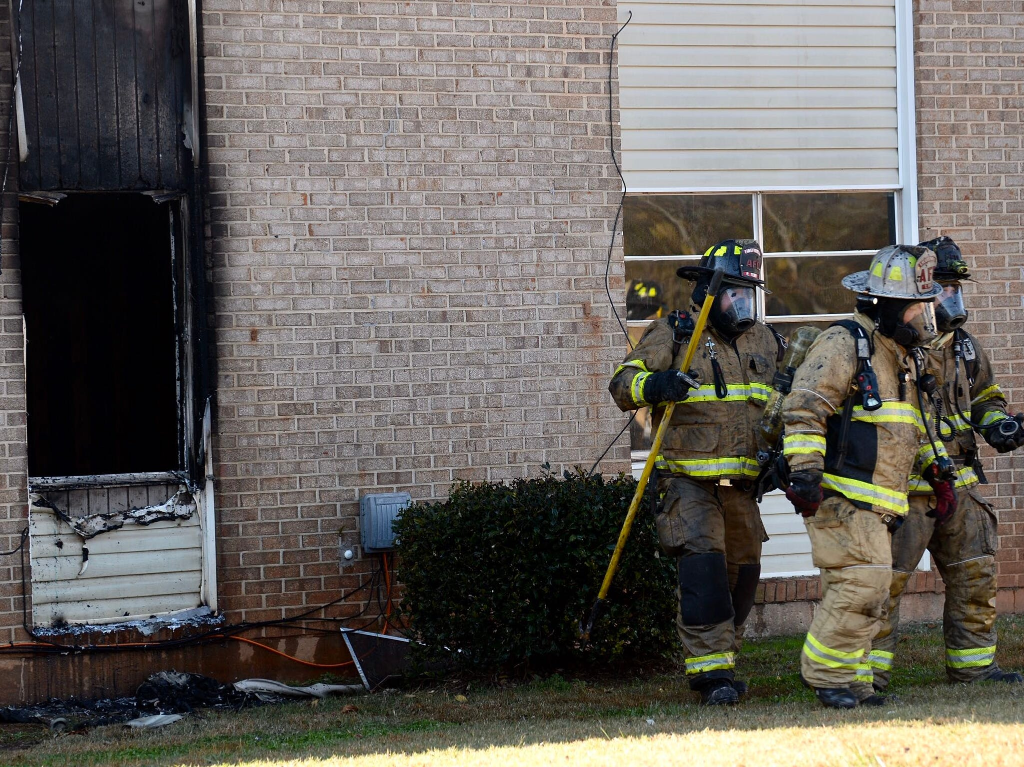 Anderson City firefighters are responding to a report of a fire at an Anderson apartment complex.