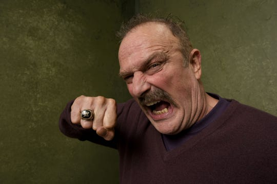 """Wrestler Jake """"The Snake"""" Roberts  poses for a portrait at the Village at the Lift Presented by McDonald's McCafe during the 2015 Sundance Film Festival on January 23, 2015 in Park City, Utah."""