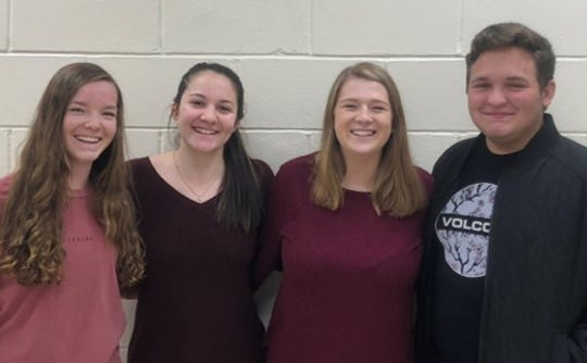 Lauren Ludwig, Joe Miller, Julia Mertikas, and Alexa Rossi of Point Pleasant Borough High School won second place in the Student Voices video contest.