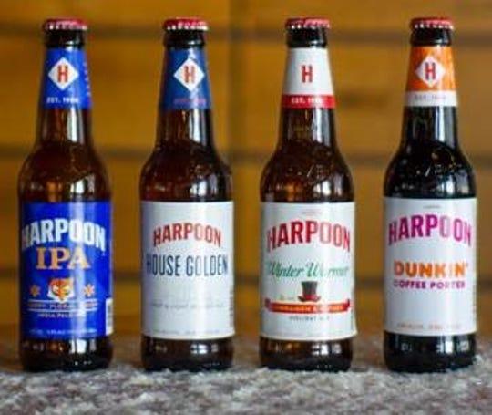 Harpoon seasonal beers.