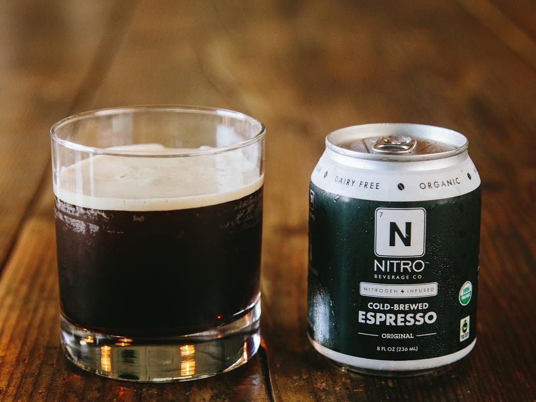 Cold-brewed espresso from NITRO Beverage Co. of Asbury Park.