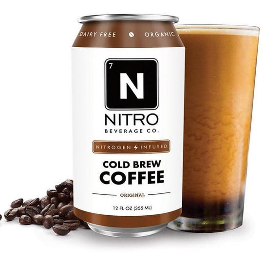 NITRO Beverage Co. of Asbury Park sells canned cold brew coffee.