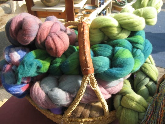 Yarn from Colour Visions is typical of the handmade items available at holiday markets around Western NC.