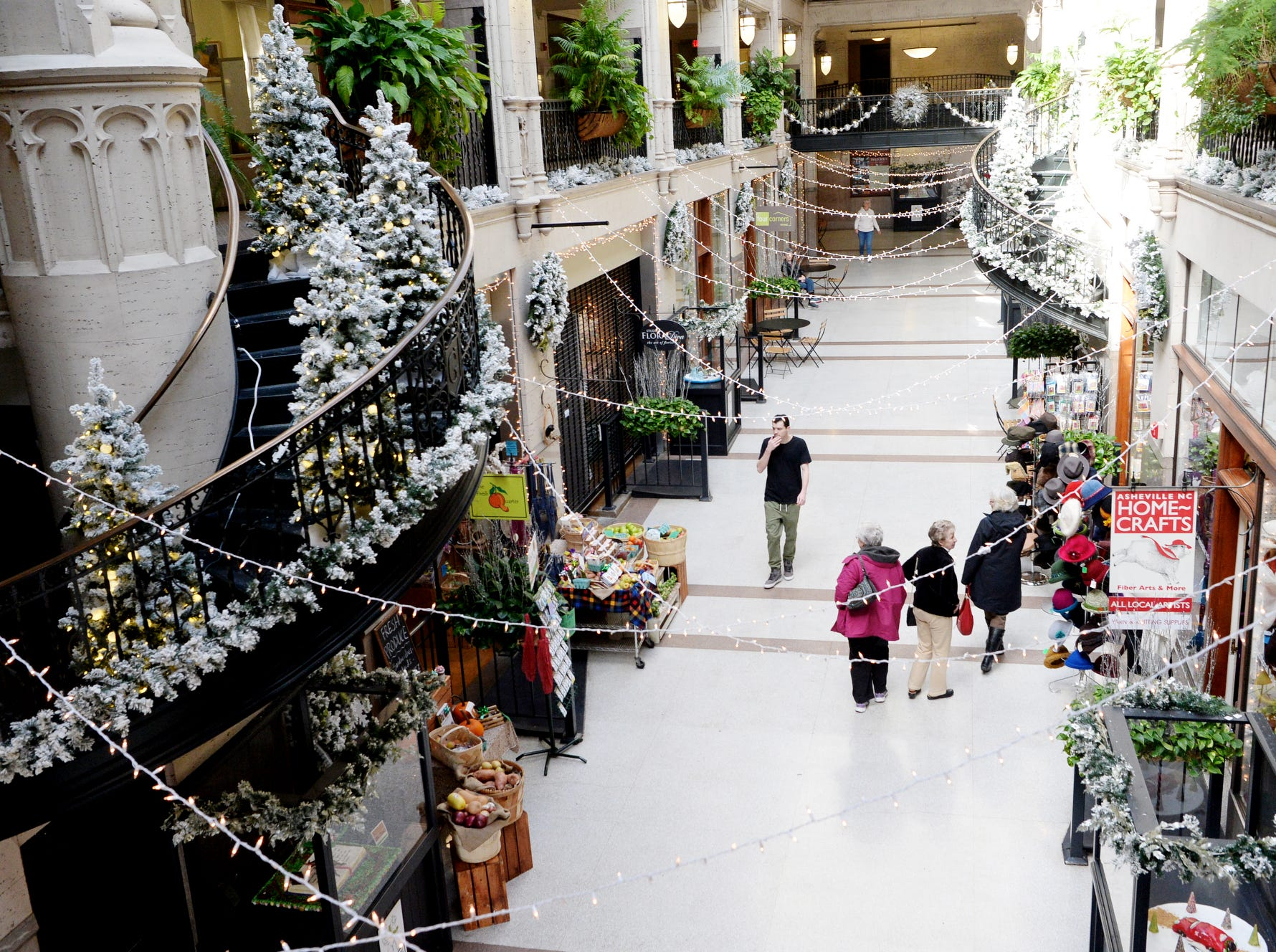 The Grove Arcade is decorated for the holidays Nov. 27, 2018.
