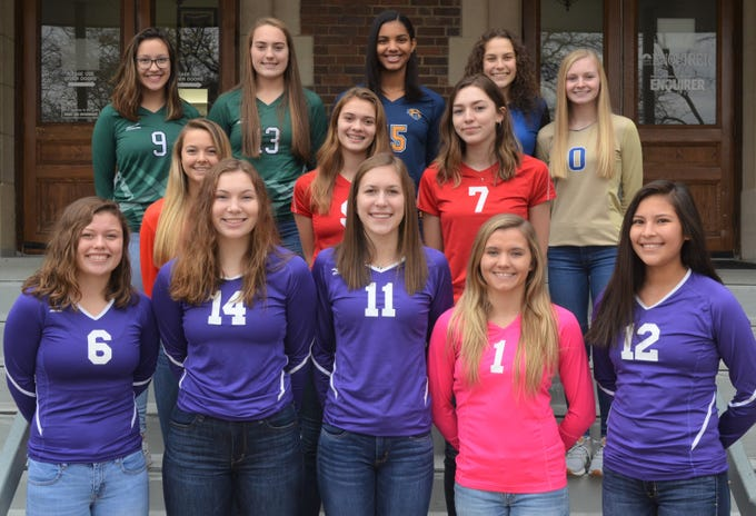 The Battle Creek Enquirer All-City Volleyball Team is made up of players from the six city schools and voted on by the city coaches and the Enquirer sports staff.