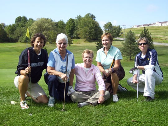 Jorie Ftorek, center, was a presence in the local golf community. One of her students, Ann Arnold, second from left, told her a women's tournament was needed in the area, so Ftorek started the Ftorek Finale at Endwell Greens.