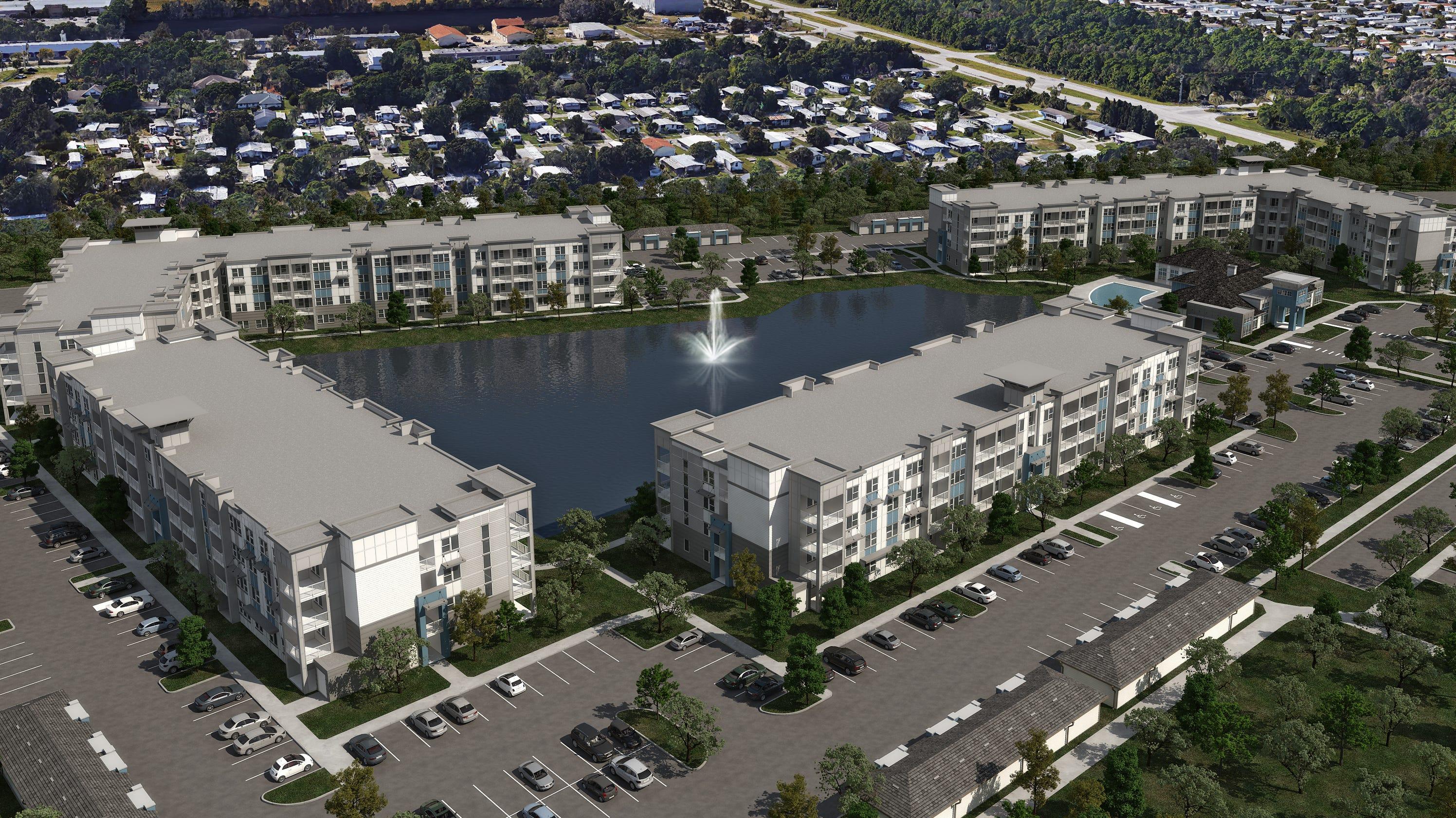 f06a541040dc Downtown Palm Bay  Developer building Aqua housing-retail complex on R.J.  Conlan Blvd.