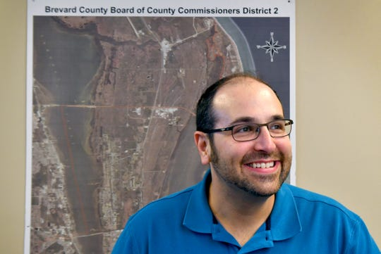 Bryan Lober, the new Brevard County commissioner for District 2, at his Merritt Island commission office.