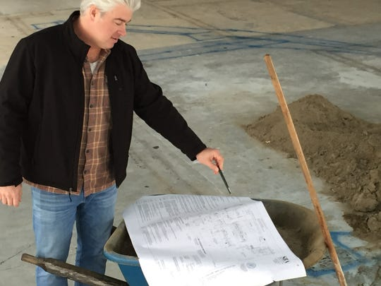 Jed Davis, owner of the Farmhouse Group, discusses plans for his future restaurant, Bliss Bee, in Williston on Nov. 27, 2018.