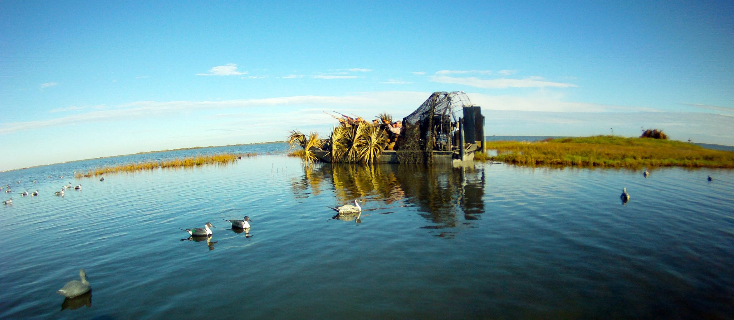 It's okay to hunt ducks from an anchored boat.