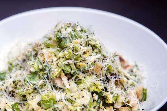 A Brussels sprouts Caesar salad from The Farmacy NJ in Palmyra.