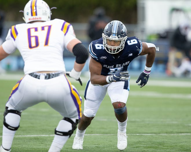 Maine linebacker Sterling Sheffield is a finalist for the STATS FCS Buck Buchanan Award, which is given annually to the FCS Defensive Player of the Year.