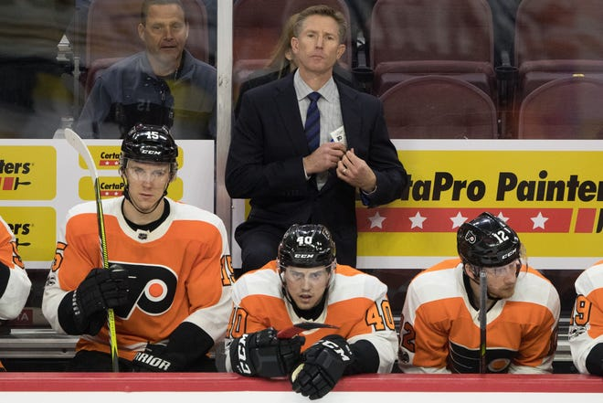 Flyers coach Dave Hakstol has to wait until a new boss is hired to learn his fate.