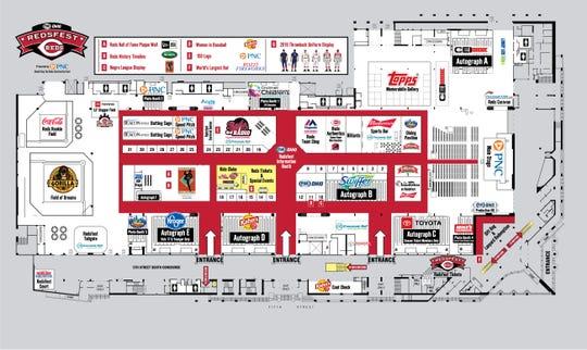 Map of main floor of Redsfest