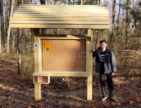 The Fox Hill Preserve in Tewksbury Township is a more welcoming place for hikers and outdoor enthusiasts, thanks to a trio of Eagle Scout projects recently completed by twin brothers Henry and Stuart Fechhelm and Finn Wintz, all of Mendham.