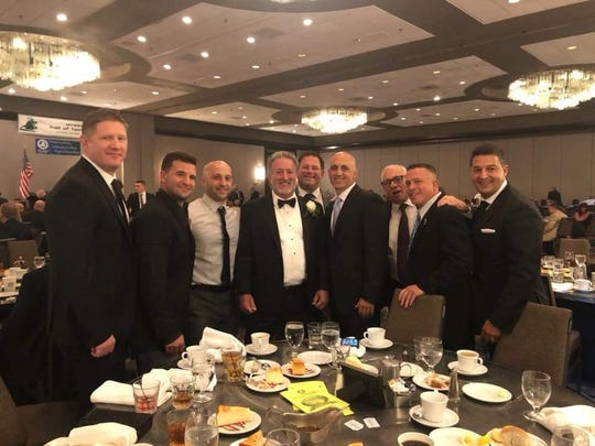 Joe Nisivoccia and his friends at the National Wrestling Hall of Fame induction in September.