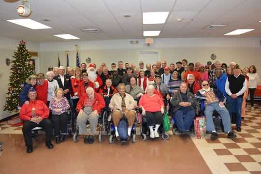 VFW Post 9111, 11 Henderson Road in Kendall Park, recently hosted a holiday luncheon for the veterans from the Menlo Park Veterans Memorial Home.