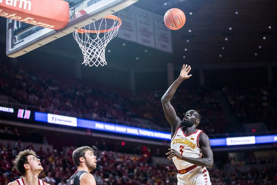 Iowa State's Marial Shayok shoots the ball during the Iowa State men's basketball game against Omaha on Monday, Nov. 26, 2018, at Hilton Coliseum, in Ames.