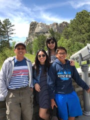 Ky Phan Luong shared this photo from a visit to Mount Rushmore, where he's standing with his wife Hollie, son Mitchell and daughter Jacquelyn. They visited Des Moines over Thanksgiving to learn more about Luong's journey as a refugee fleeing communist Vietnam in 1978.