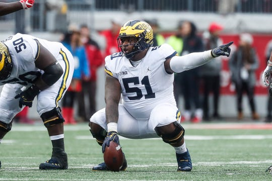 New Orleans Sants take Michigan football's Cesar Ruiz in NFL draft