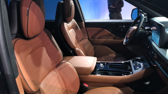 The 2020 Lincoln Aviator Black Label has a luxurious material