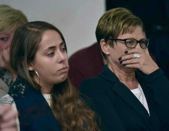 Loved ones of victim Tia Marie Vellucci are emotional during the gruesome testimony.