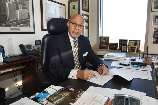Former Detroit Mayor Dennis Archer, seen recently at his law office in downtown Detroit, was a Michigan Supreme Court justice from 1986 to 1990.