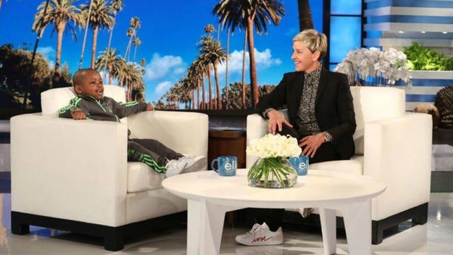 Tavaris Jones visited Ellen DeGeneres on Monday.