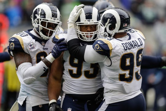 Ndamukong Suh and Aaron Donald help for a best of a defensive line for the Los Angeles Rams.