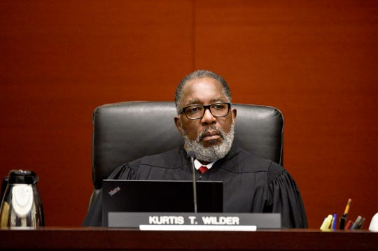 State of Michigan Supreme Court Justice Kurtis Wilder listens to oral arguments  in court in Lansing on November 19.  He did not collect enough votes to continue for another term.