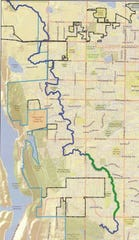 The Pleasant Valley and Lake Canal runs 20 miles from the Poudre River to south of Harmony Road.