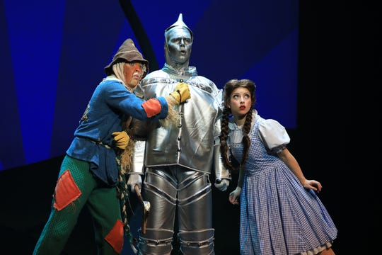 "A scene from Prather Touring Company's ""The Wizard of Oz"""