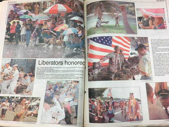 A photo spread of Guam's 50th Liberation Day featured in the Pacific Daily News on July 22, 1994. Guam's Liberation Day is on July 21.