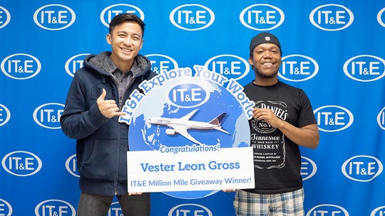 After 16 weeks of giveaways, IT&E has awarded the final winners of the IT&E Explore Your World Million Mile Giveaway. Vester Leon Gross won 30,000 miles just by being a prepaid subscriber and Tatian Grajo won 5,000 by participating in IT&E's social media giveaway contest.