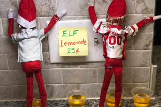 "Elf on the Shelf ""lemonade."""