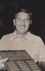 """Ralph O'Brien received the Tom Warner Awared as """"Bulldog of the Year"""" in 1975."""