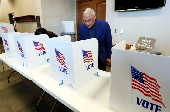 Democratic candidate Mike Espy votes in a U.S. Senate runoff election Nov. 27, 2018, in Ridgeland, Mississippi.