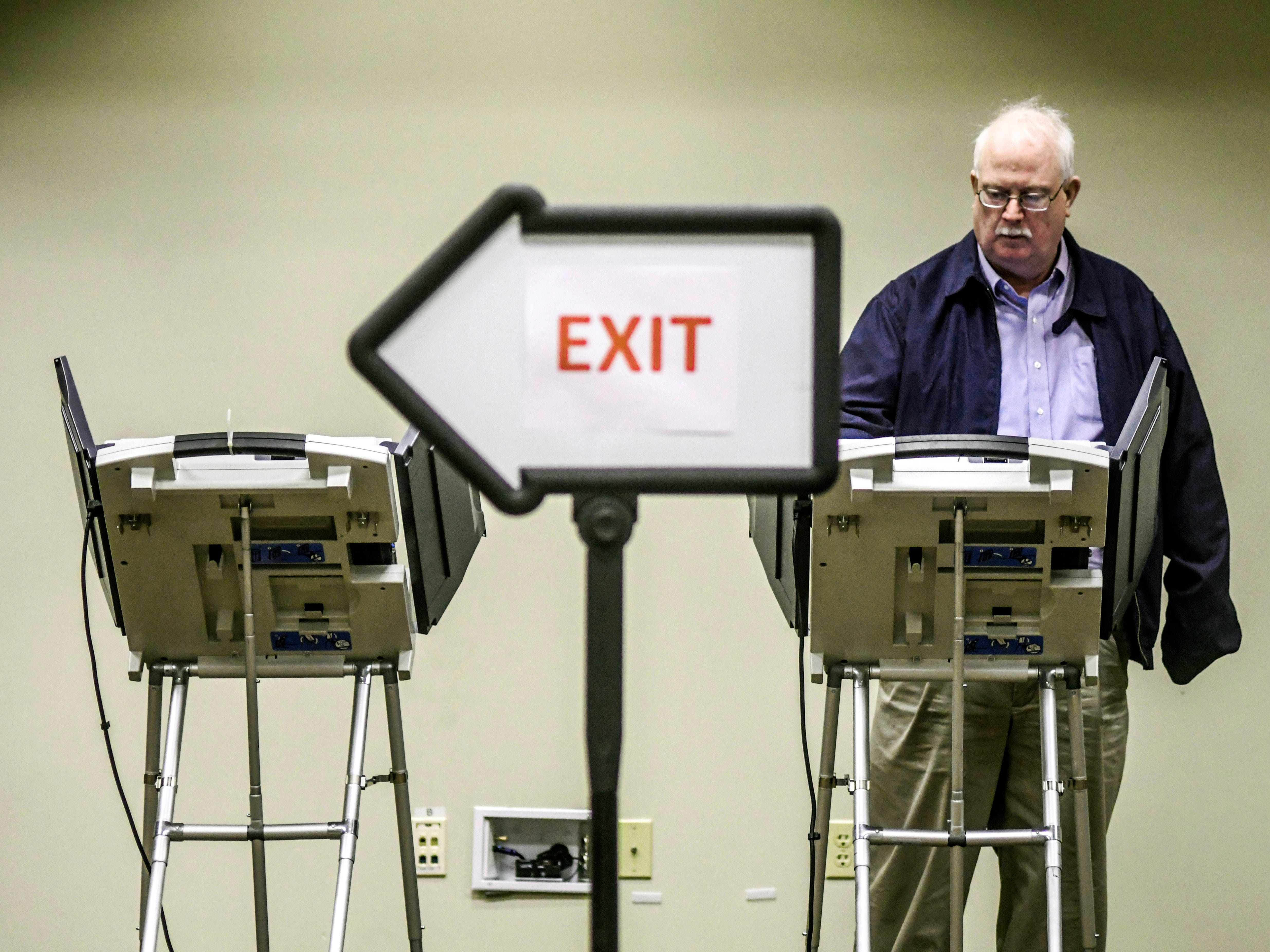 Don Whitten votes at the polls in a runoff election at the Oxford Conference Center in Oxford, Miss. on Tuesday, Nov. 27, 2018. Mississippi voters are deciding the last U.S. Senate race of the midterms, choosing between Espy and Republican Sen. Cindy Hyde-Smith.