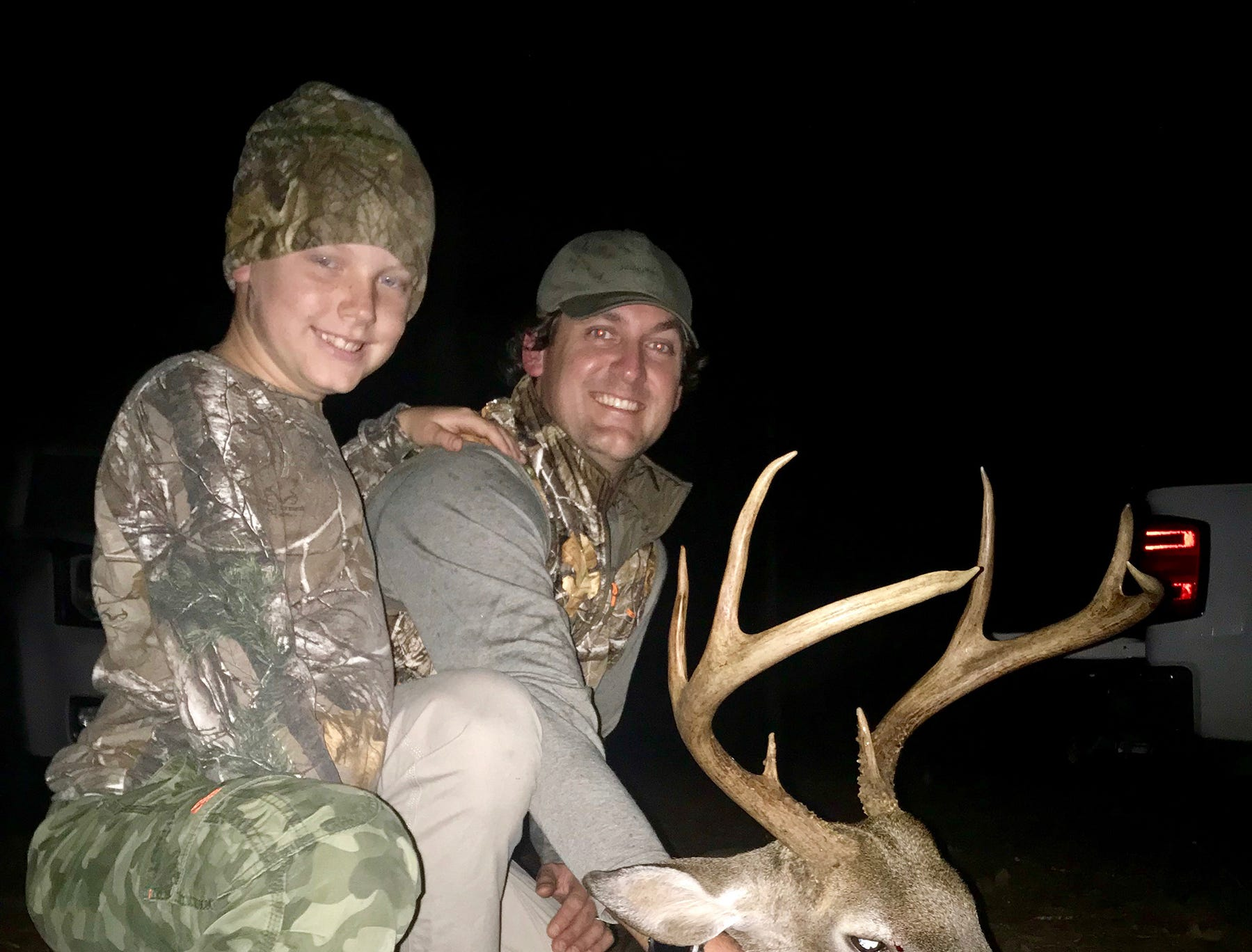 Garner Russum, 8, of Hattiesburg, harvested his first deer this season. Russum took the 8-point while hunting with his father, Hunter Russum.