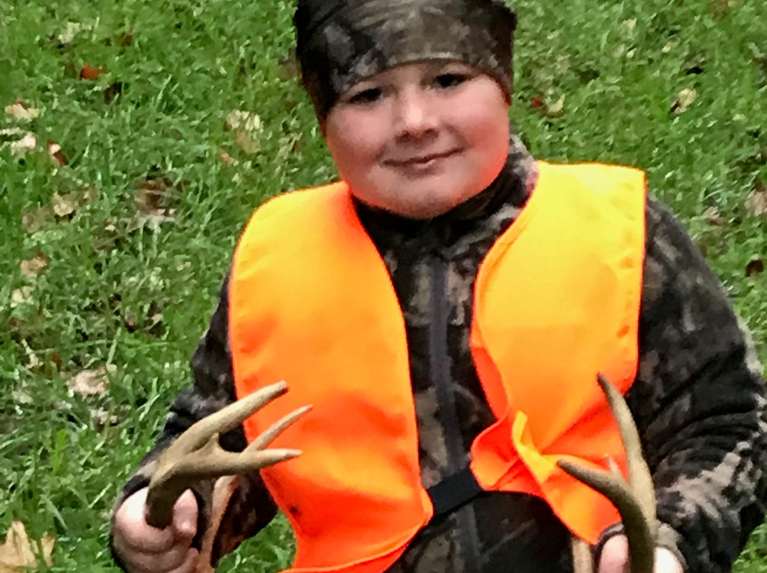 Remington Skeen, 8, of Grenada, harvested this deer in Rosebloom.