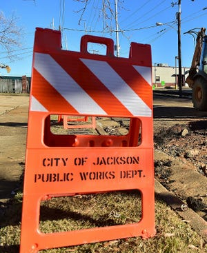 City of Jackson Public Works employees worked from 8 p.m. Monday, Nov. 26, 2018, to noon the next day to repair a water main in Presidential Hills subdivision.
