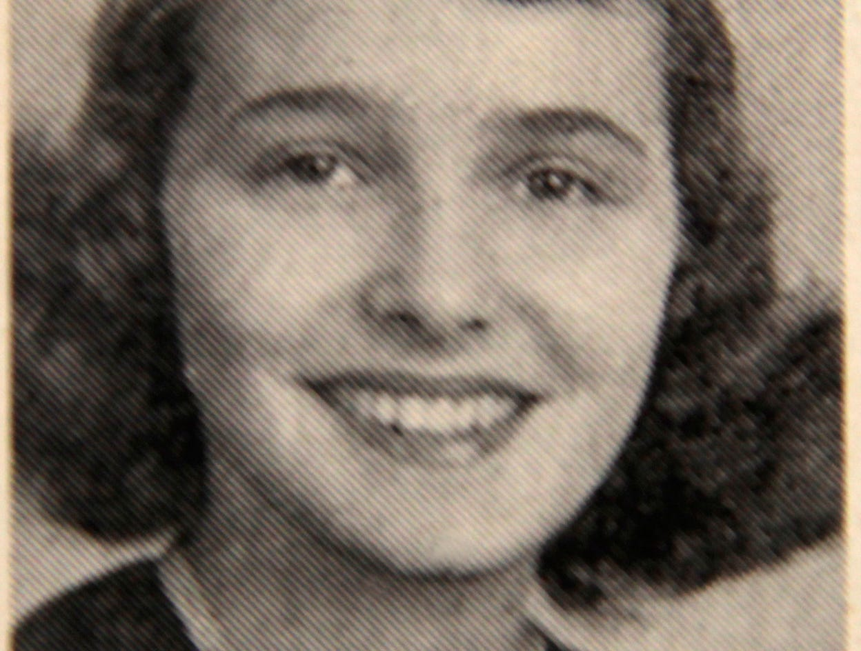 "Patsy ""Patricia"" Neal in the May 28, 1943 edition of Knoxville High School's the Blue and White weekly newspaper."