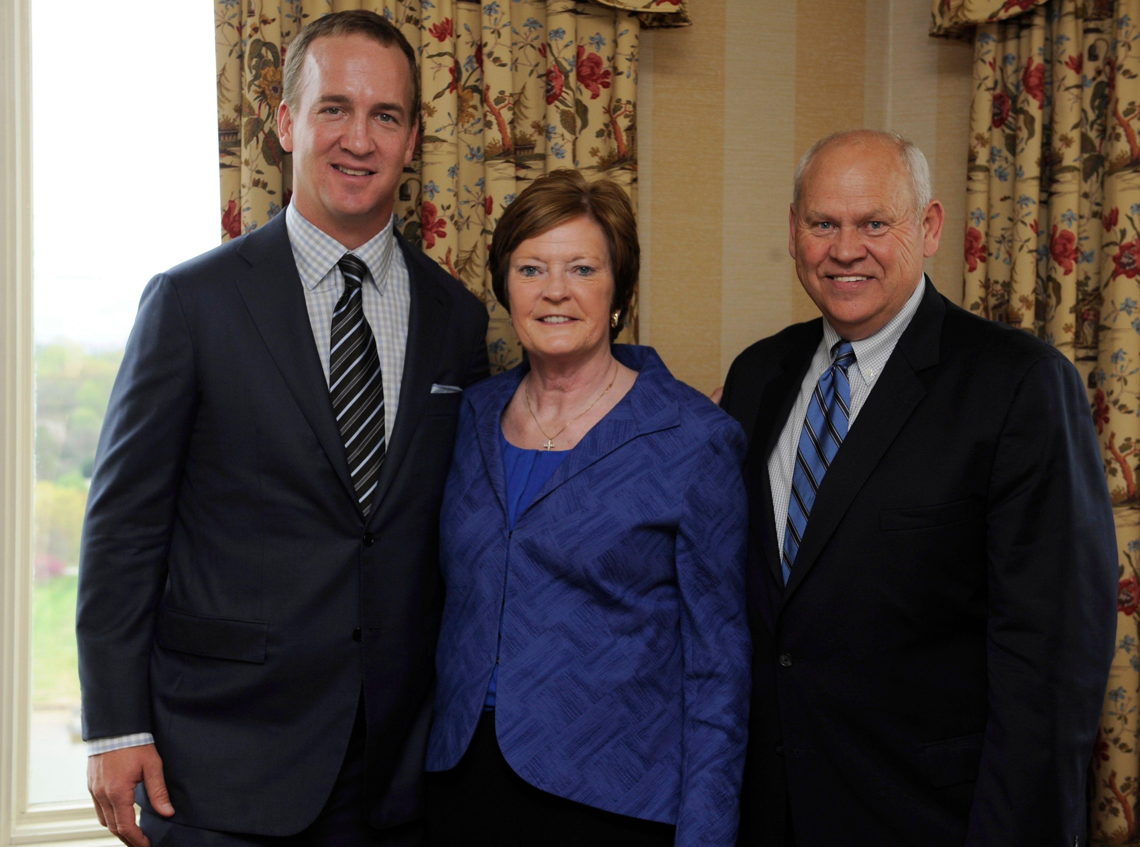 Peyton Manning, Pat Summitt, Phillip Fulmer