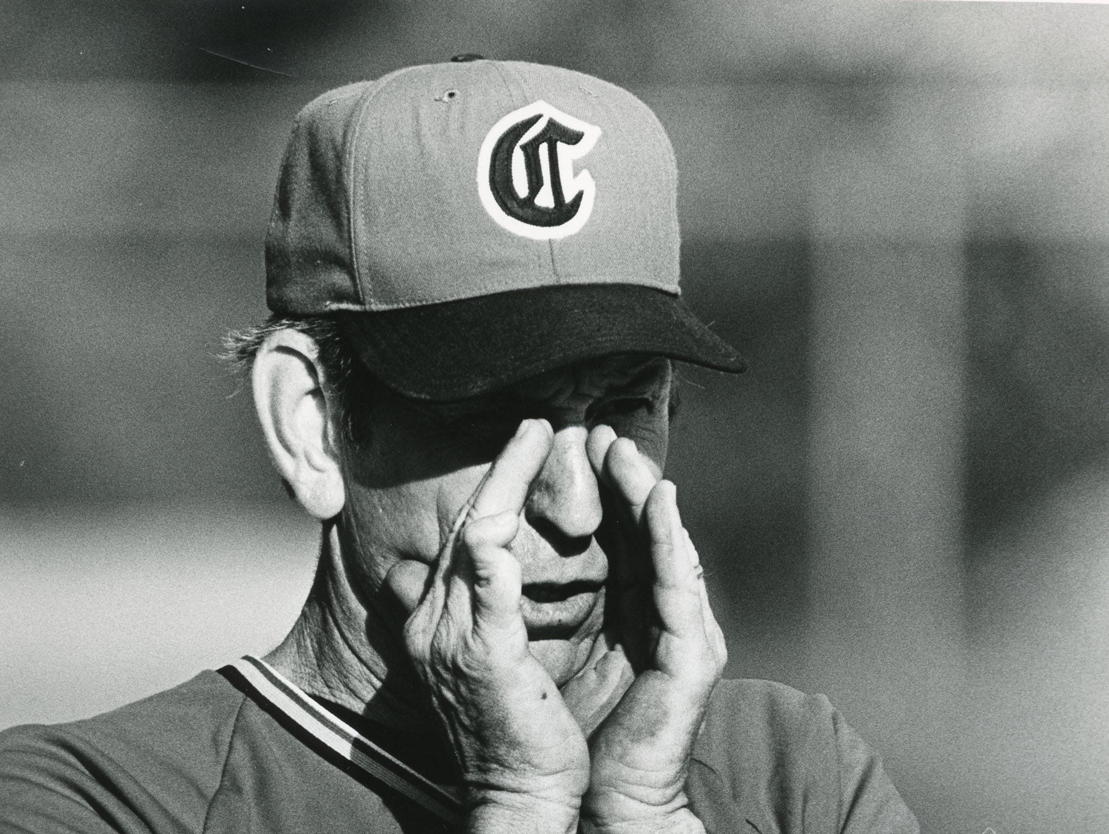 Central High baseball coach Bud Bales calls a play in this May, 1985 photo.
