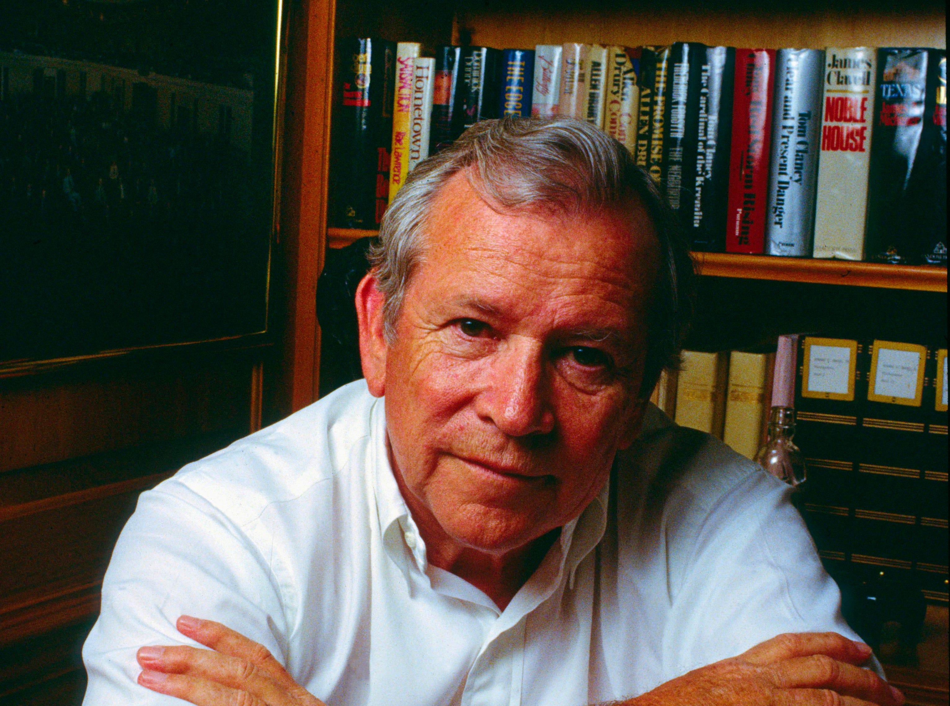 Former U.S. Sen. Howard Baker Jr. pictured on June 17, 1991, at his home in Huntsville.