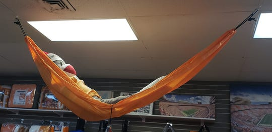 HoundDogs of Knoxville is selling Tennessee Vols hammocks at its 9250 Kingston Pike location.