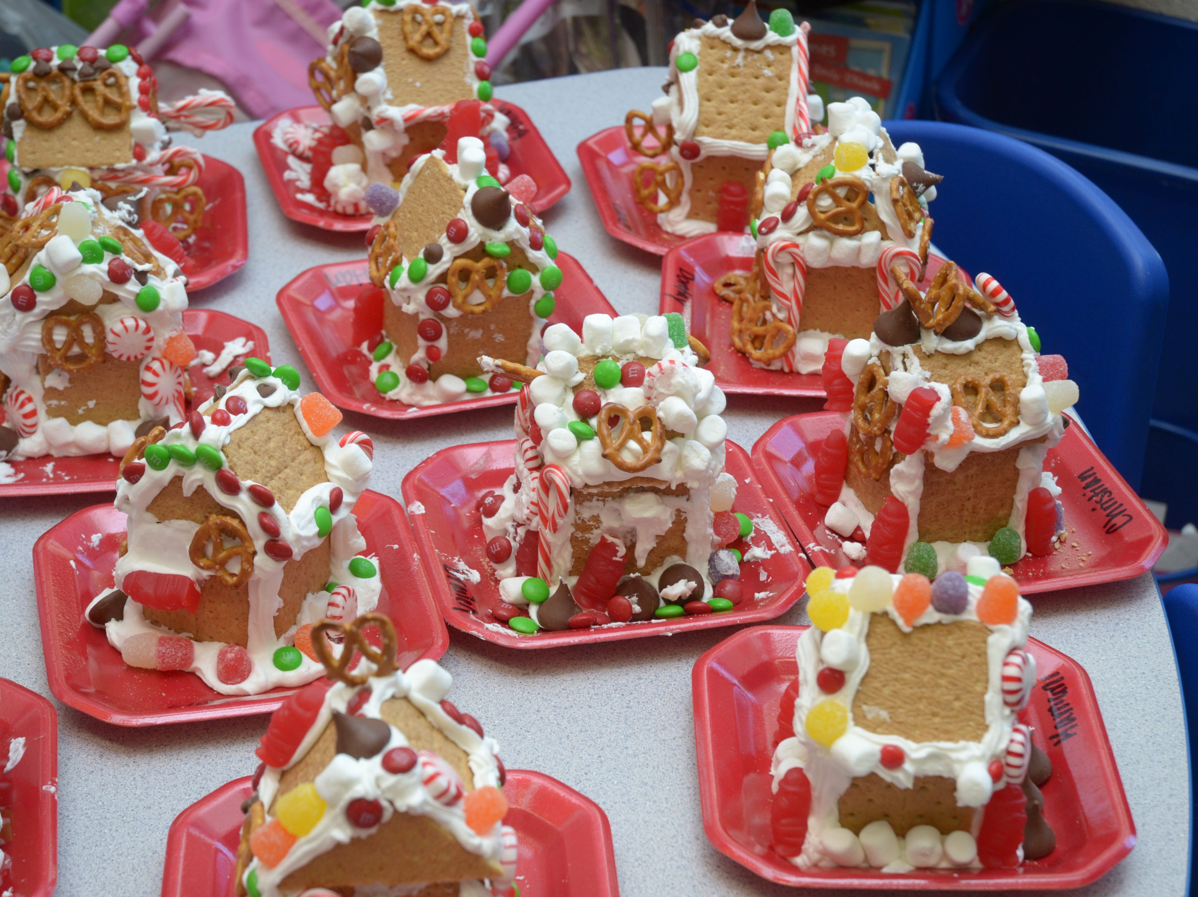 Gingerbread House Day is observed annually on Dec. 12. An Armenian monk, Gregory of Nicopolis, brought his favorite food, gingerbread, to Europe around 992 AD. These gingerbread houses were created in a kindergarten classroom at Pleasant Ridge Elementary, December 2014.