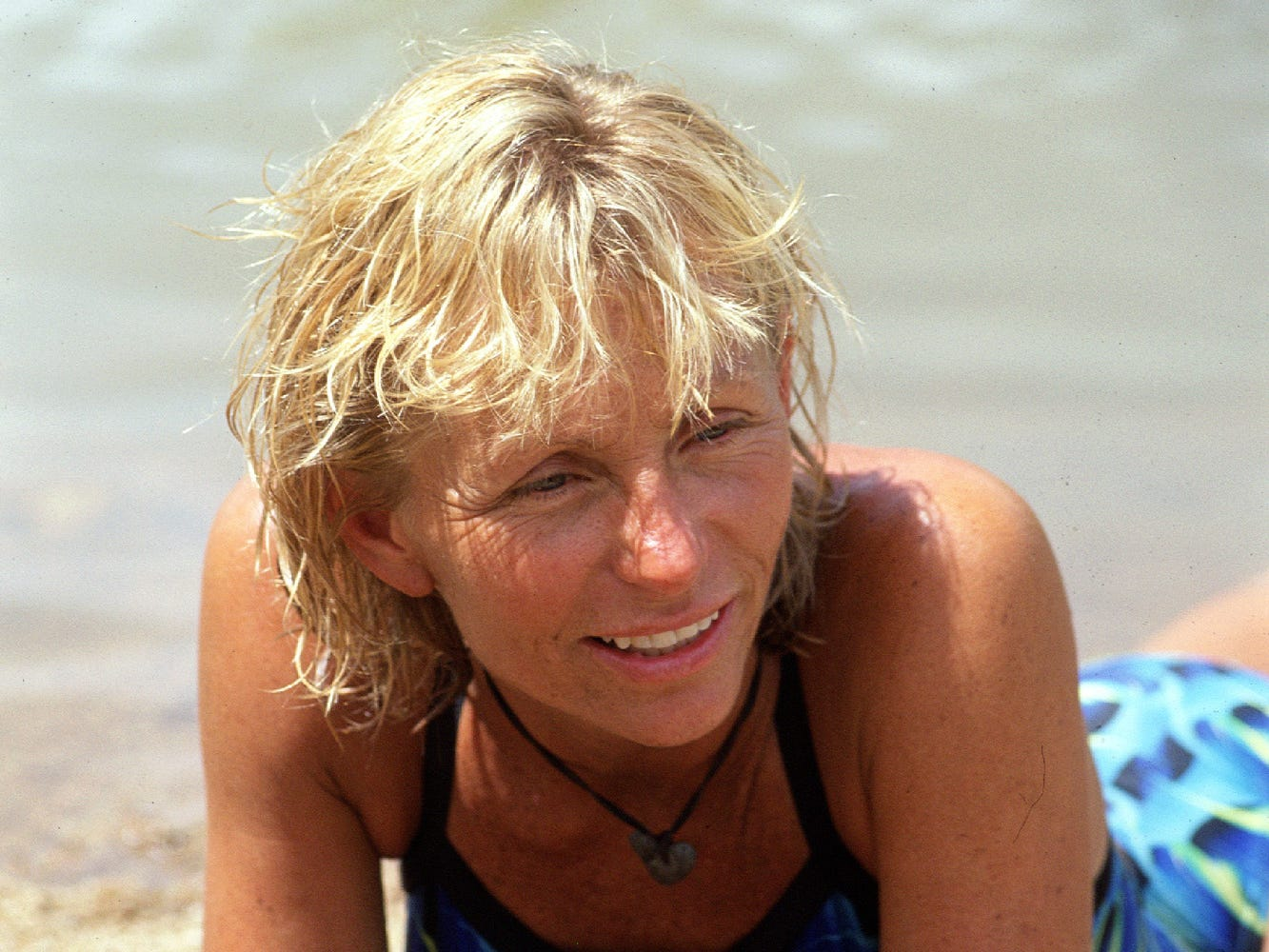 "Contestant Tina Wesson is shown at an undisclosed location in this undated handout photo during an episode of ""Survivor:  The Australian Outback"".   Wesson is one of the three remaining contestants competing for the $1 million prize on the final episode of ""Survivor"" airing Thursday, May 3, 2001, on CBS."